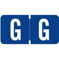 "Tab 1278 Compatible Alpha Labels, Letter ""G"", Vinyl Stock, 1/2"" X 1"" Individual Letters - Ro..."