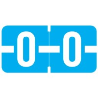 "Tab 1278 Compatible Alpha Labels, Letter ""O"", Vinyl Stock, 1/2"" X 1"" Individual Letters - Ro..."