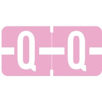 "Tab 1278 Compatible Alpha Labels, Letter ""Q"", Vinyl Stock, 1/2"" X 1"" Individual Letters - Ro..."