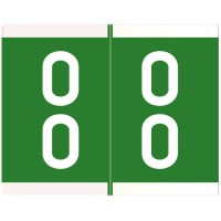 "Barkley DAVM Compatible Double Digit Labels, Laminated Stock, 1-3/16"" X 1-1/2"" Individual Nu..."