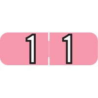 "Barkley NBAM Compatible Mini Numeric Labels, Number ""1"", Laminated Stock, 1/2"" X 1-1/2..."