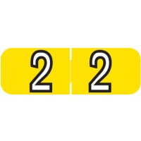 "Barkley NBAM Compatible Mini Numeric Labels, Number ""2"", Laminated Stock, 1/2"" X 1-1/2..."
