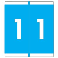 "Barkley NSFM Compatible Numeric Labels, Number ""1"", Laminated Stock, 1-11/16"" x 1-1/2""Indivi..."