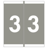"Barkley NSFM Compatible Numeric Labels, Number ""3"", Laminated Stock, 1-11/16"" x 1-1/2""Indivi..."
