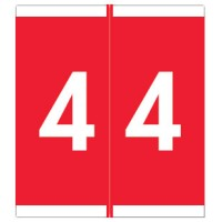 "Barkley NSFM Compatible Numeric Labels, Number ""4"", Laminated Stock, 1-11/16"" x 1-1/2""Indivi..."