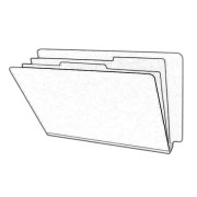 DV-S52-26-1PRL - Type I Pressboard Classification Folders, Full Cut End Tab, Letter Size, 2 Dividers, Pearl (Box of 10)