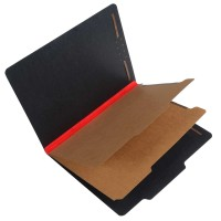 S62621 - Black Pressboard Top Tab Classification Folder, Letter Size