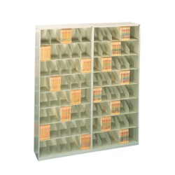 "Fully Assembled Stackable Shelving, 24"" Wide, Letter Size, 7 Tiers High (Price Each)"