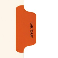 Individual Chart Divider Tabs, Lab / X-Ray (Orange)